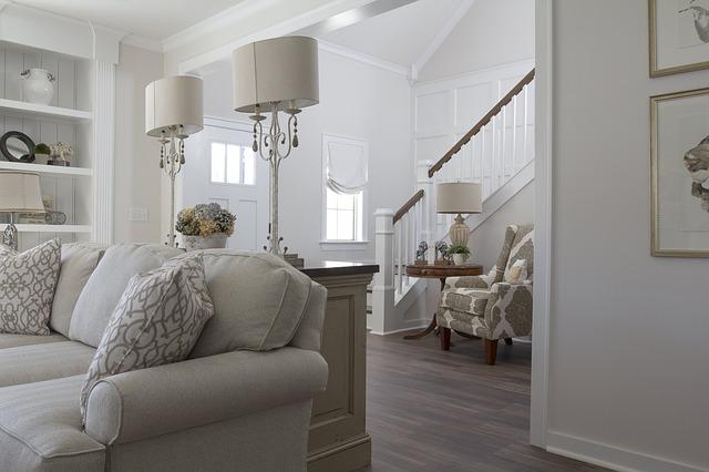 Elementy dekoracyjne w pomieszczeniach